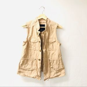 American Eagle Outfitters Khaki vest jacket